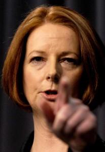La ex prime minister Julia Gillard
