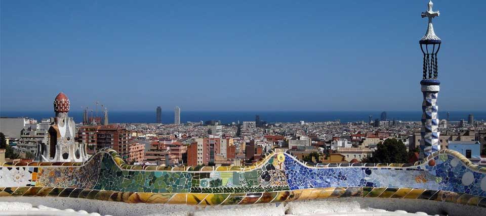 Vistes de la ciutat de Barcelona des del Parc Güell