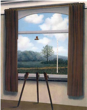 Magritte, René. La condition humaine (1935)