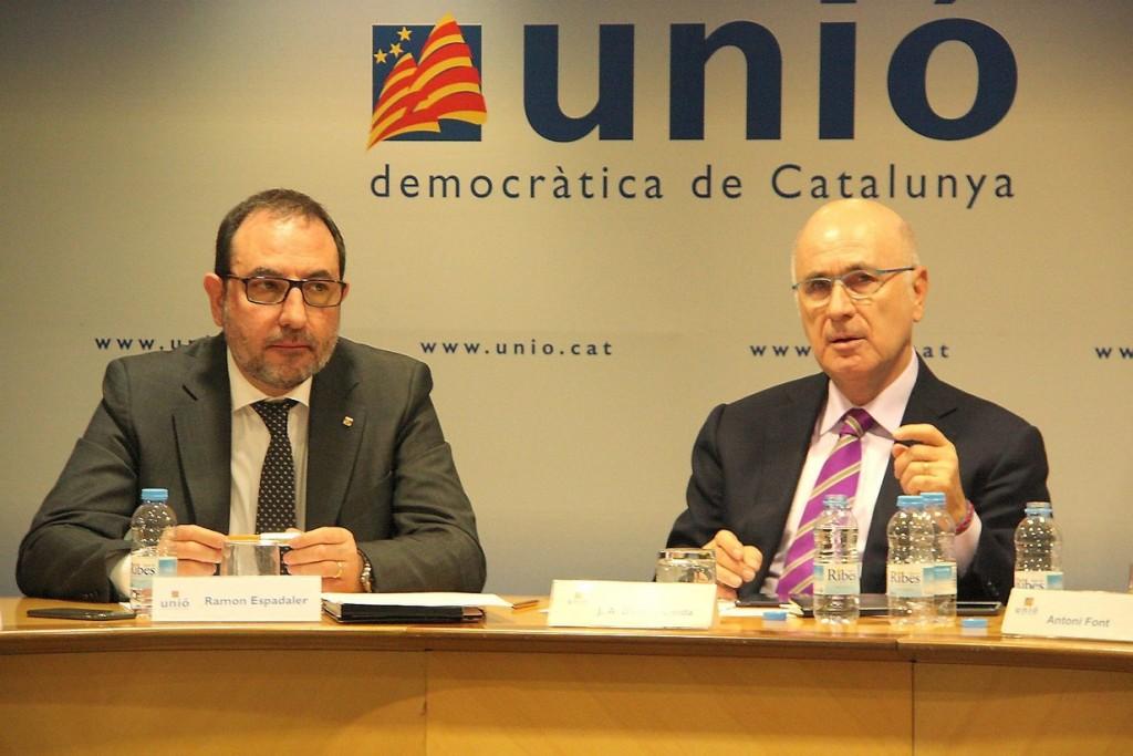 Ramon Espadaler i Josep Antoni Duran i Lleida / Imatge d'arxiu, Diari Ara i ACN