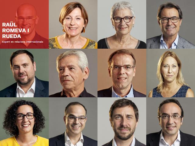 Els primers candidats per Barcelona de Junts pel Sí, com es poden veure a la seva pàgina web