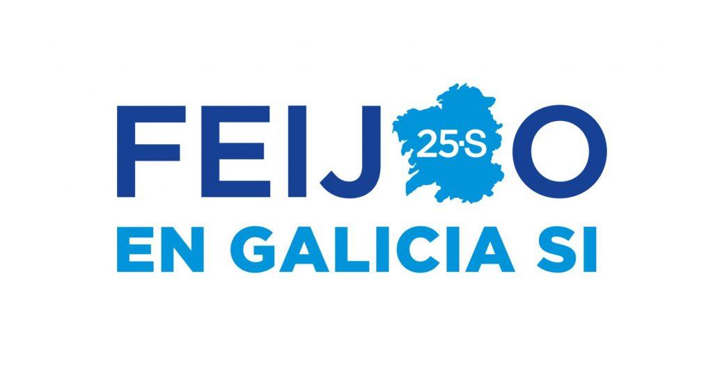 Cartell de precampanya del PP de Galícia.